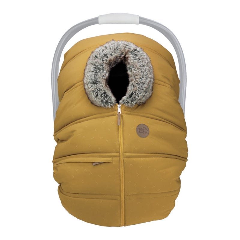 Winter Baby Car Seat Cover - Cari Yellow