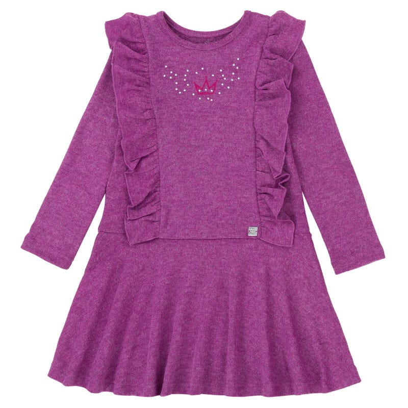 Circle of Friends Brushed Jersey Dress  7-10y -Violet