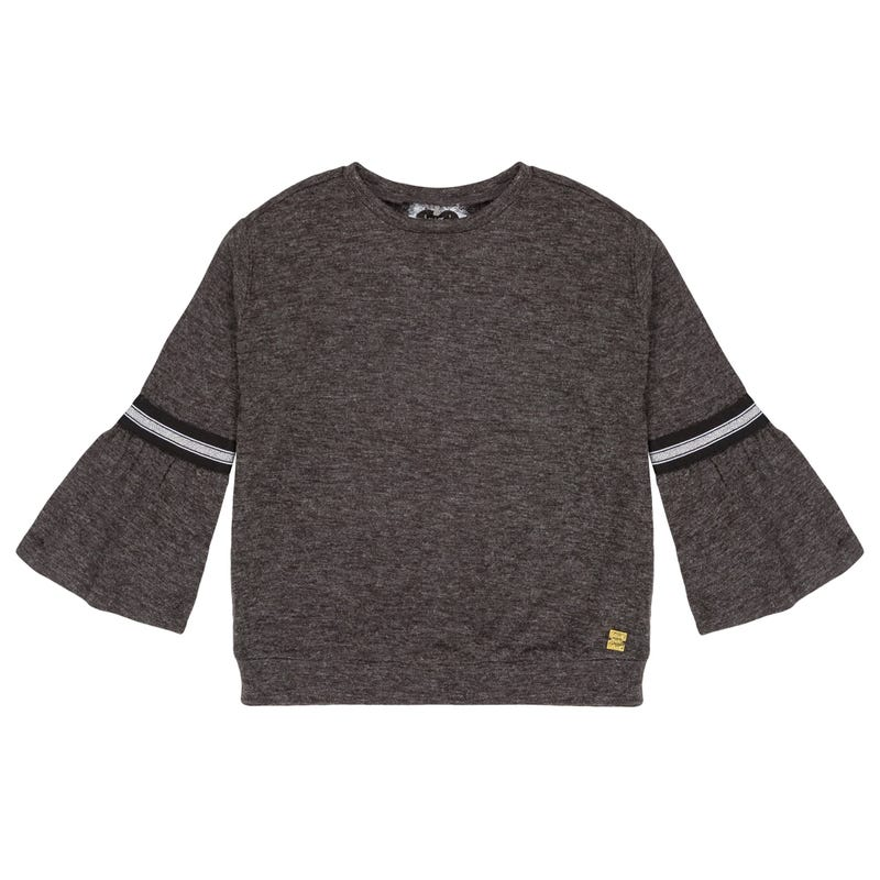 Black In The Brushed Jesey Top 3-6y - Black Mix