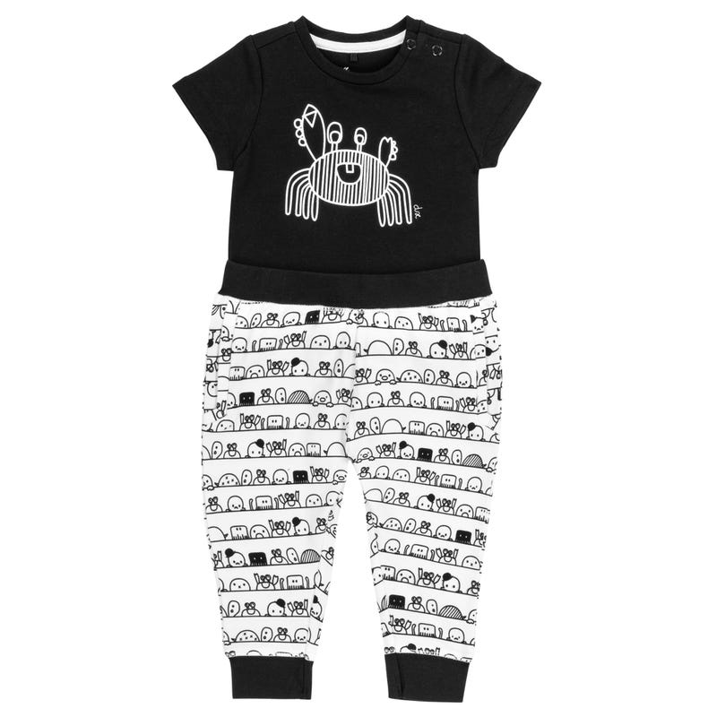 Bodysuit  With Carb and Printed Pant 6-24m