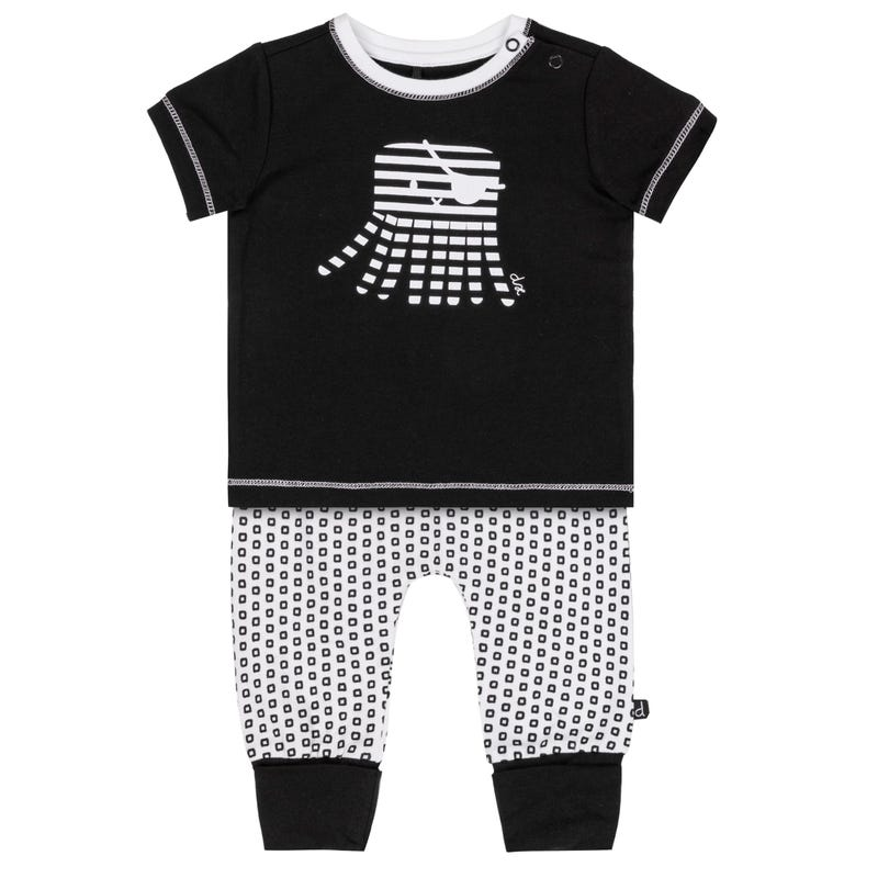T-Shirt Octopus and Square printed Pant Set 6-24m