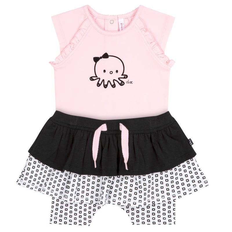 Bodysuit With Octopus and Skort Set 12-24m