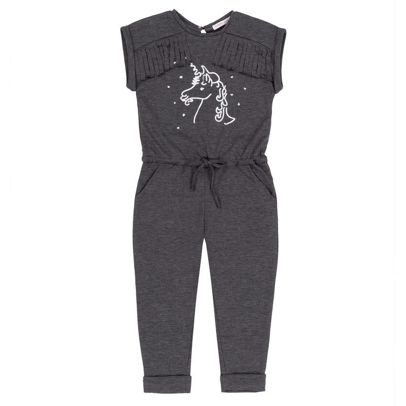 Unicorn Jumpsuit With Silver Foil 3-6y