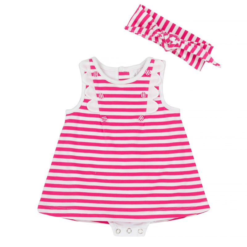 Flower Striped Romper 12-24m