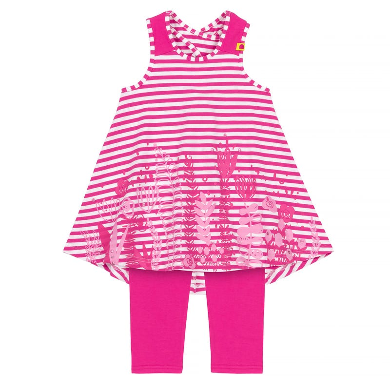 Flower Tunic  With Legging Set 3-6y