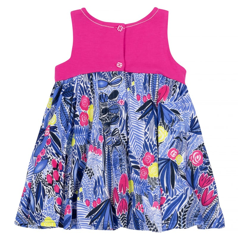 Flower Printed Dress and Capri Leggings Set 12-24m