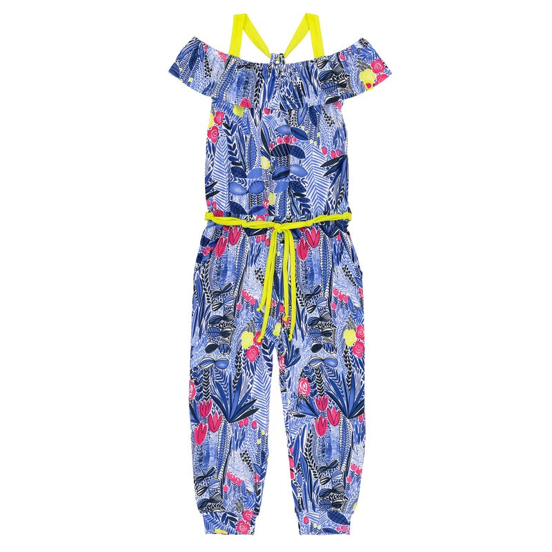 Flower Printed Jumpsuit 3-6y