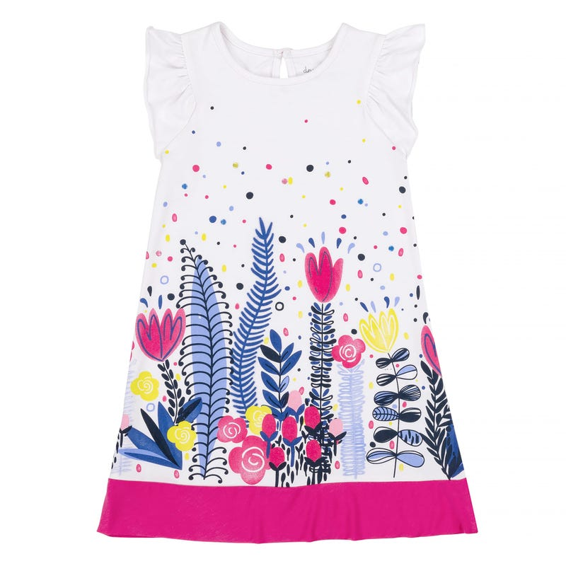 Flower Dress Print at Bottom 7-10y