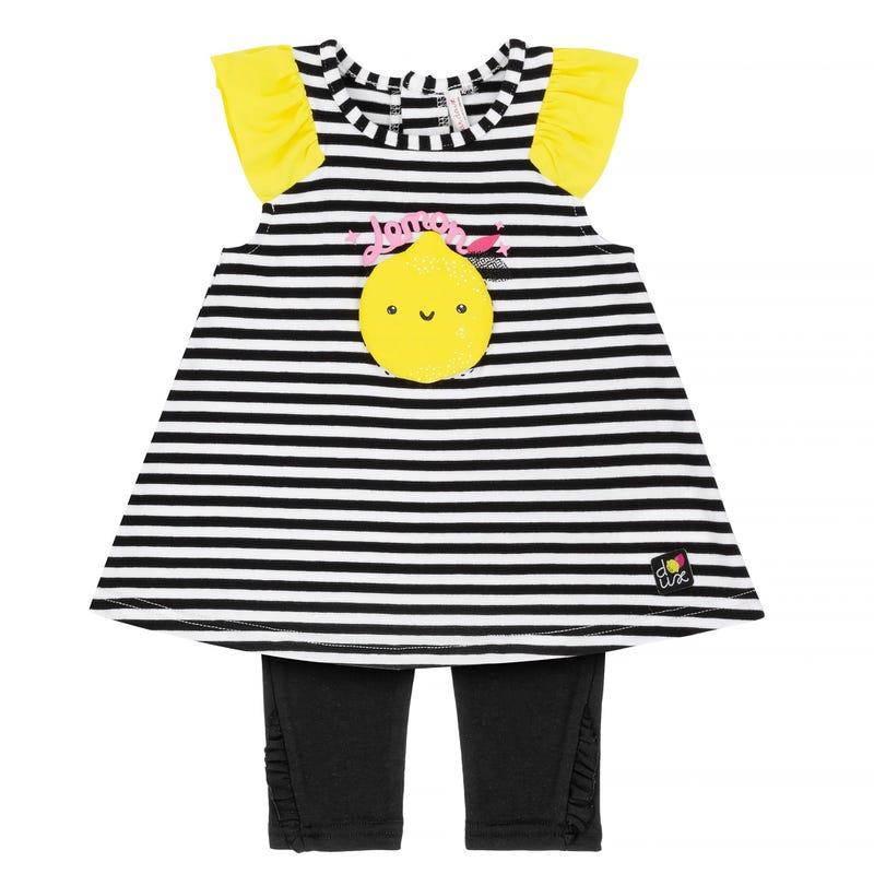 Lemon Printed Tunic and Capri Legging Set 12-24m