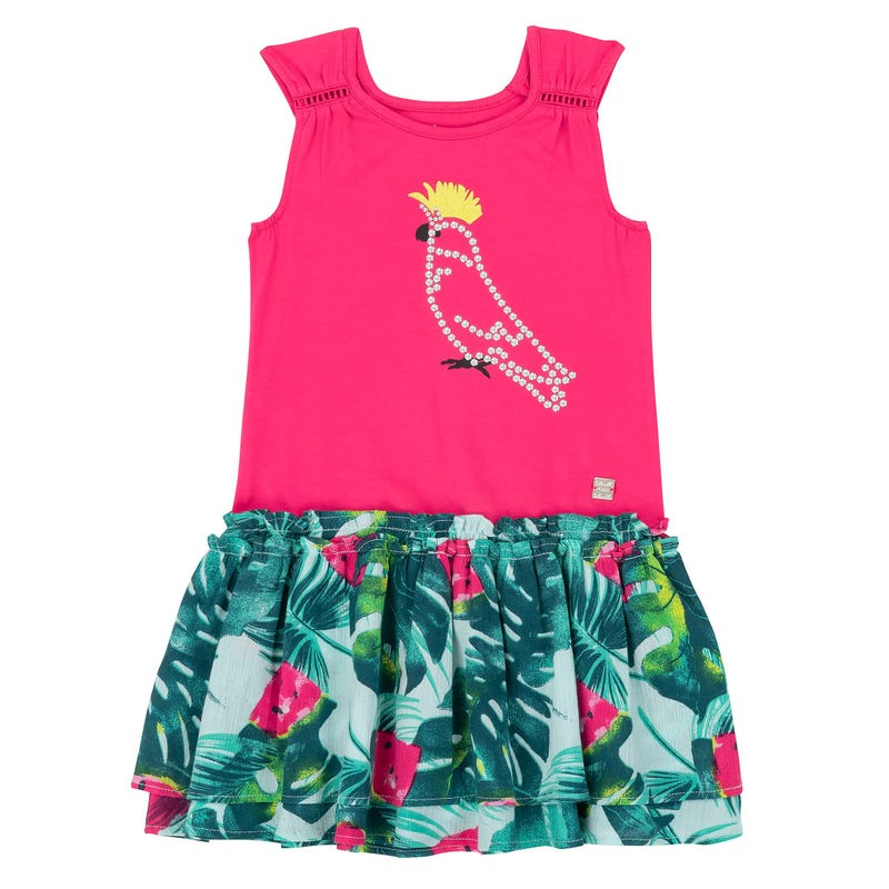 Cockatoo Dress Top and Skirt 3-6y