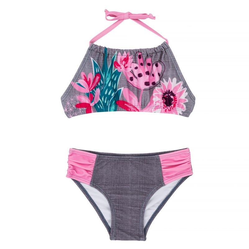 Bikini Fleurs Cactus 8-14ans