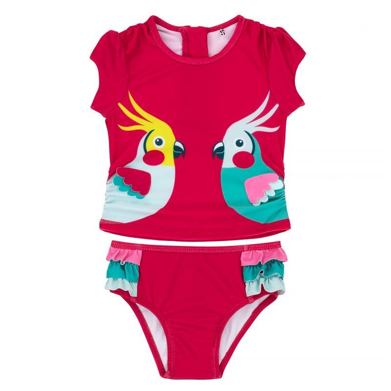 Cockatoo 2 Pieces Rashguard Swimsuit 2-7y