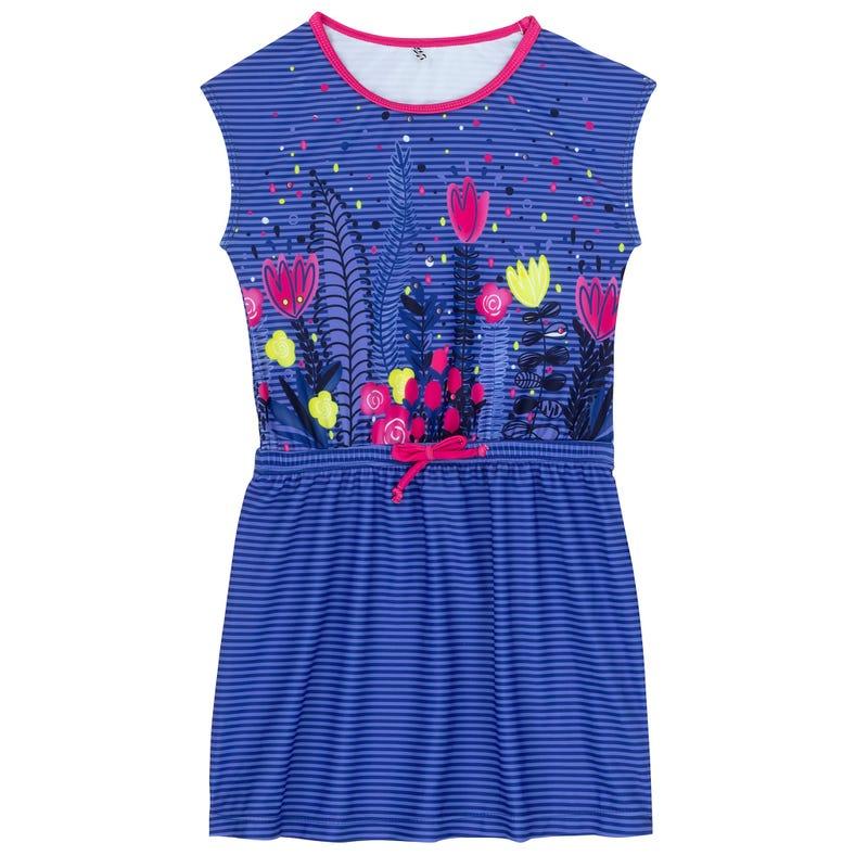Flower Beach Printed Dress 2-7y