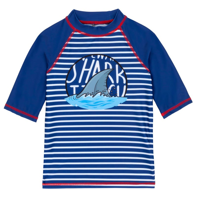 Shark 3/4 Sleeve Rashguard 2-7y