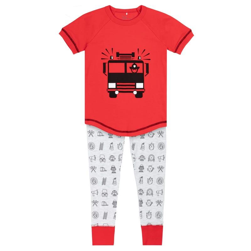 Fire Truck Pajama Set 3-10y