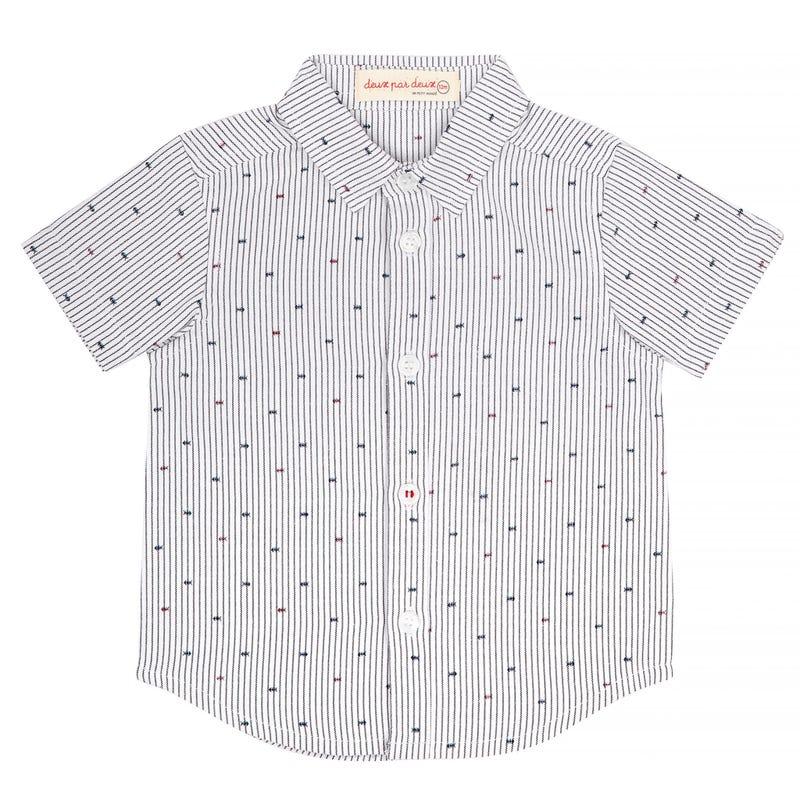 Sailor Short Sleeve Striped Shirt 3-6y
