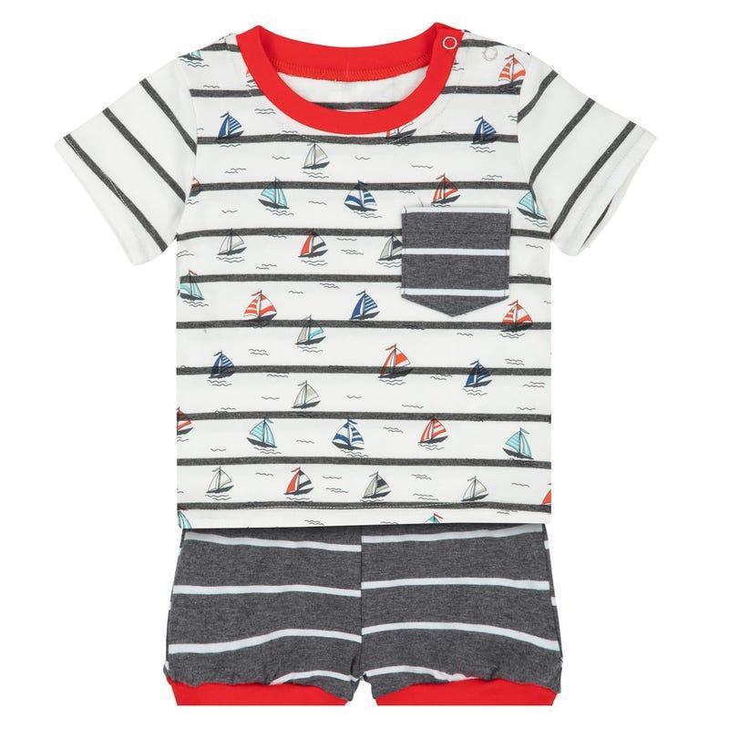 Sailor T-Shirt and Short Set 9-24m