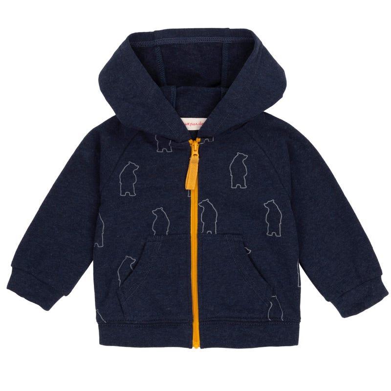 Penguin Zip Hoodie 12-24m