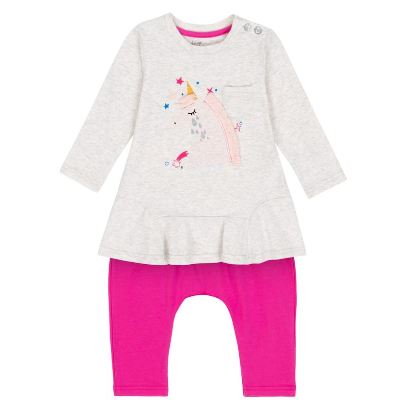 Unicorn Tunic Set 12-24m