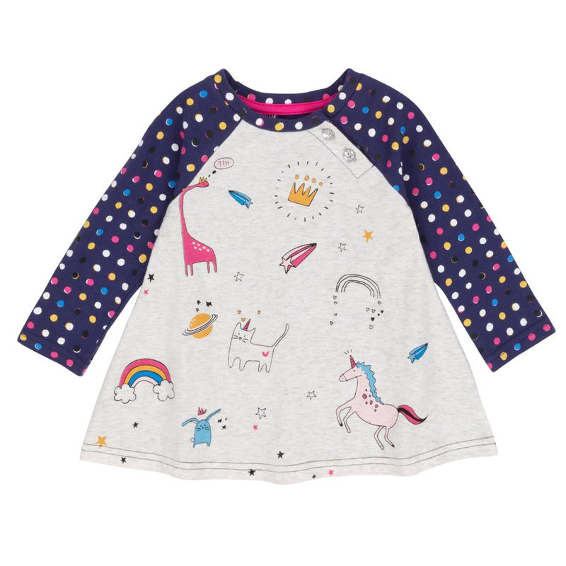 Unicorn Long Sleeves Raglan T-Shirt 3-6y