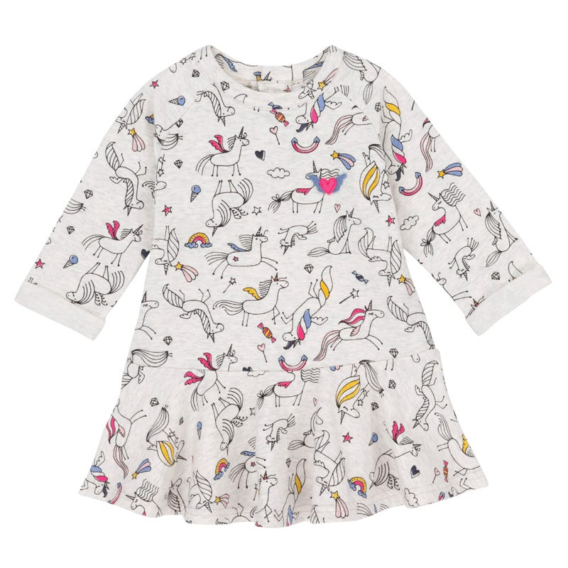 Unicorn Dress 3-6y