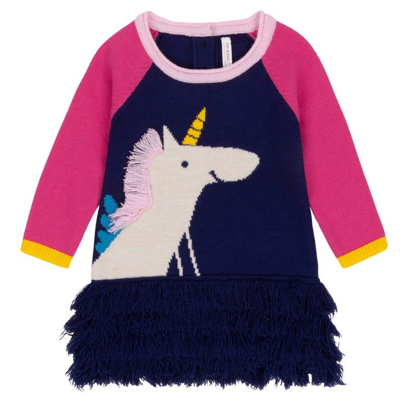 Unicorn Knit Dress 12-24m
