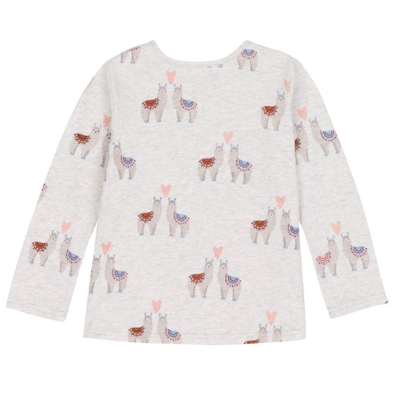 T-Shirt à Manches Longues Lama 7-10ans