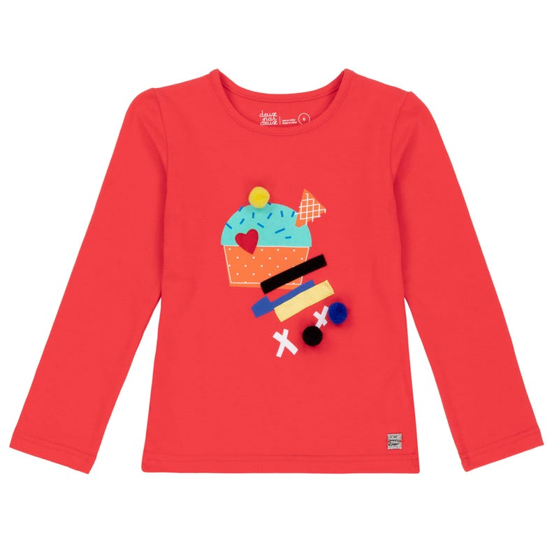 Pompom Long Sleeves T-Shirt 3-6y