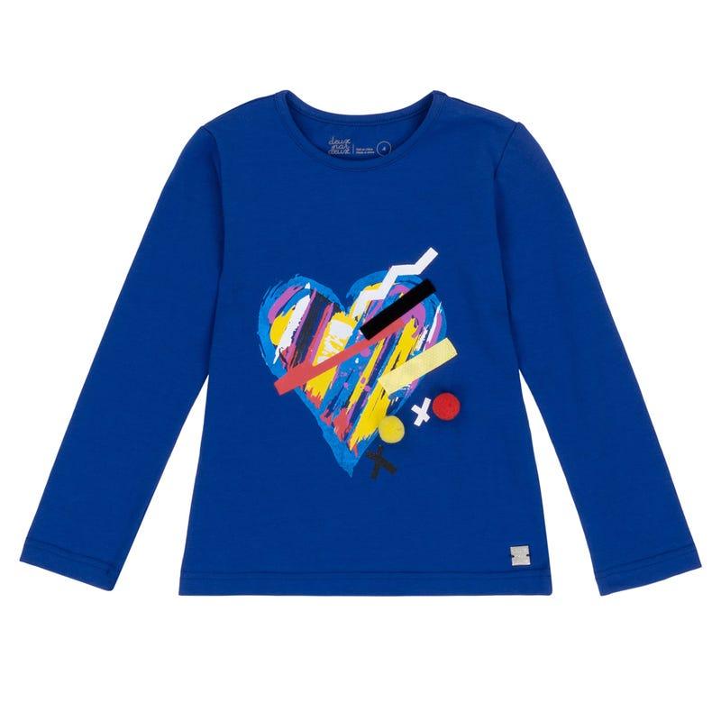 T-Shirt à Manches Longues Pompom 7-10ans