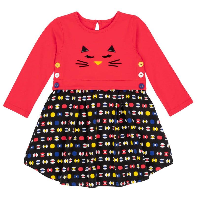 Robe Chat Pompon 3-6ans