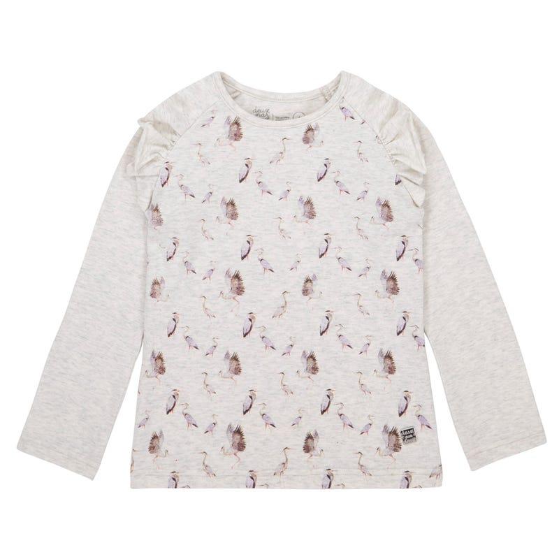 T-Shirt à Manches Longues Oiseaux 7-10ans