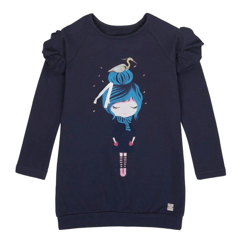 Tunique Raglan Oiseaux 7-10ans