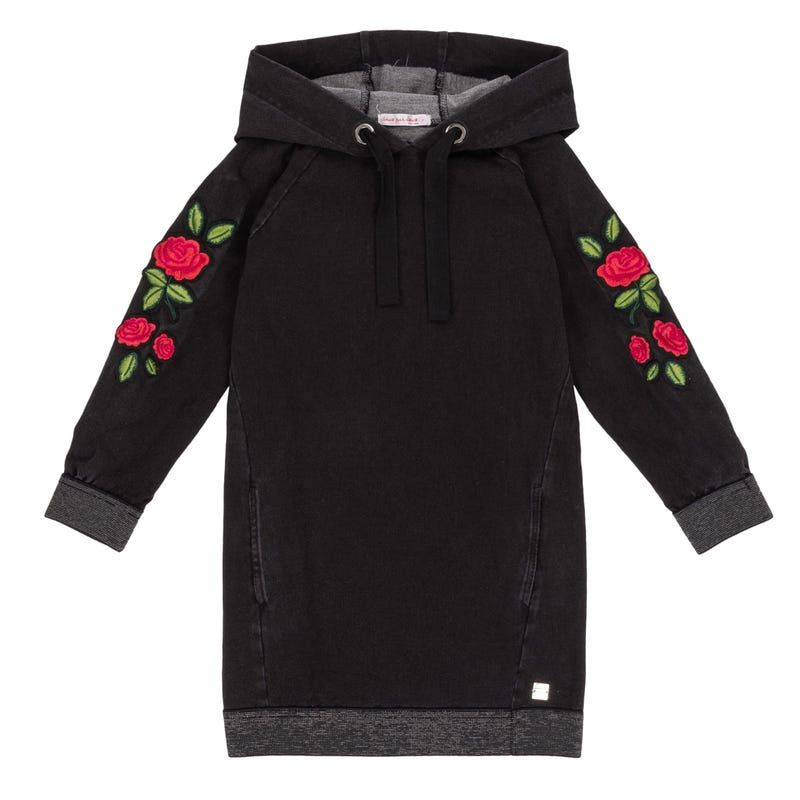 Dino Hooded Dress 7-10y