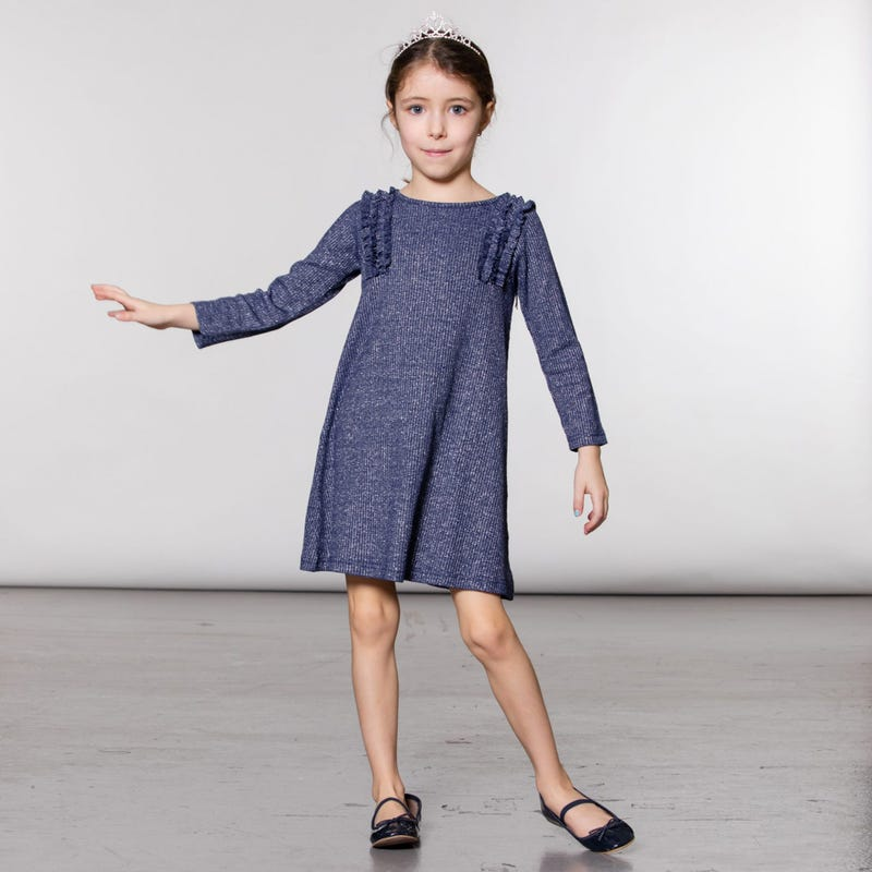 Chic Long Sleeves Dress 3-6y