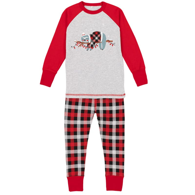 Sloth pajamas Set 3-10y