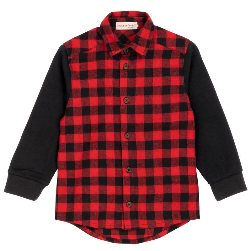 Chalet Plaid Long Sleeves Shirt 3-6y