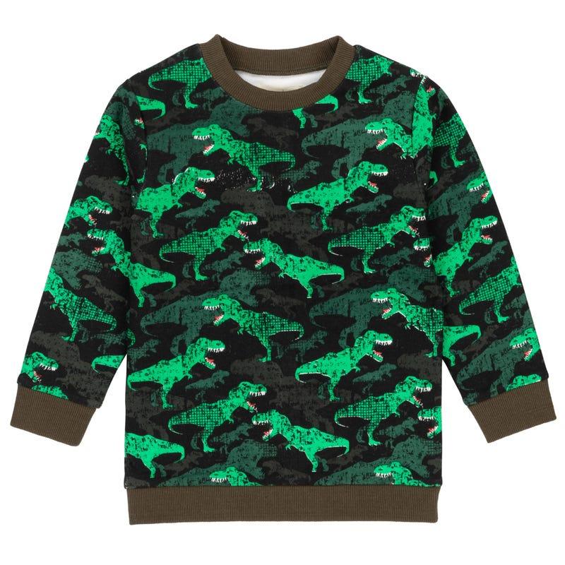 Little Man Dino Sweatshirt 3-6y