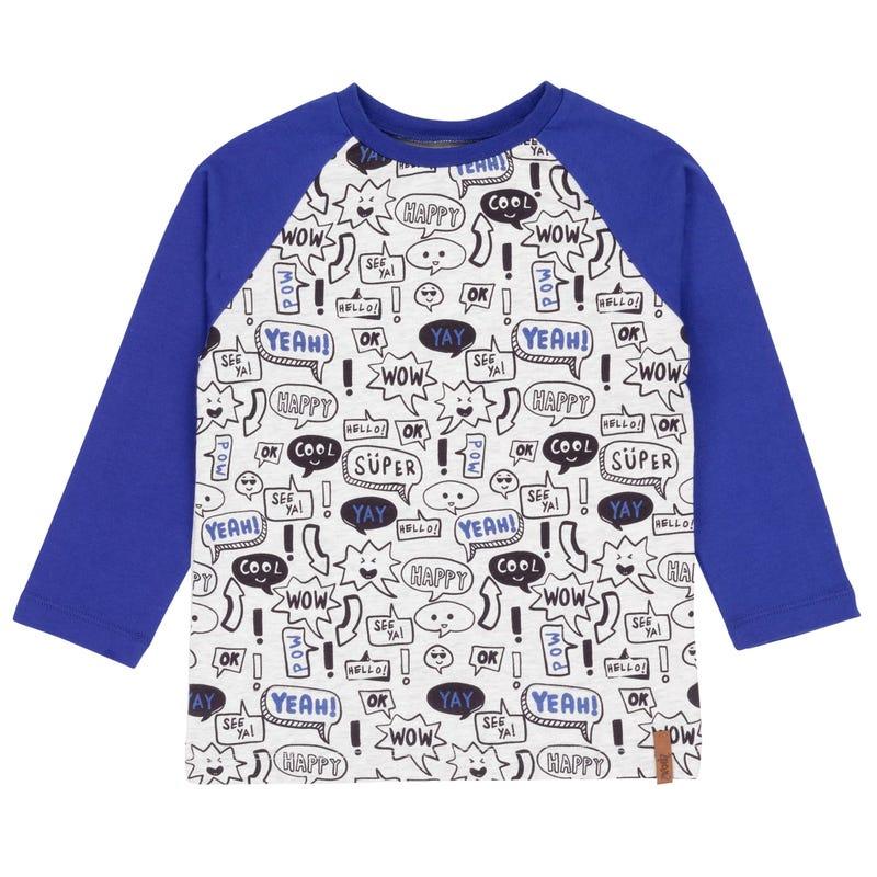 T-Shirt à Manches Longues Skate Petit Homme 3-6ans