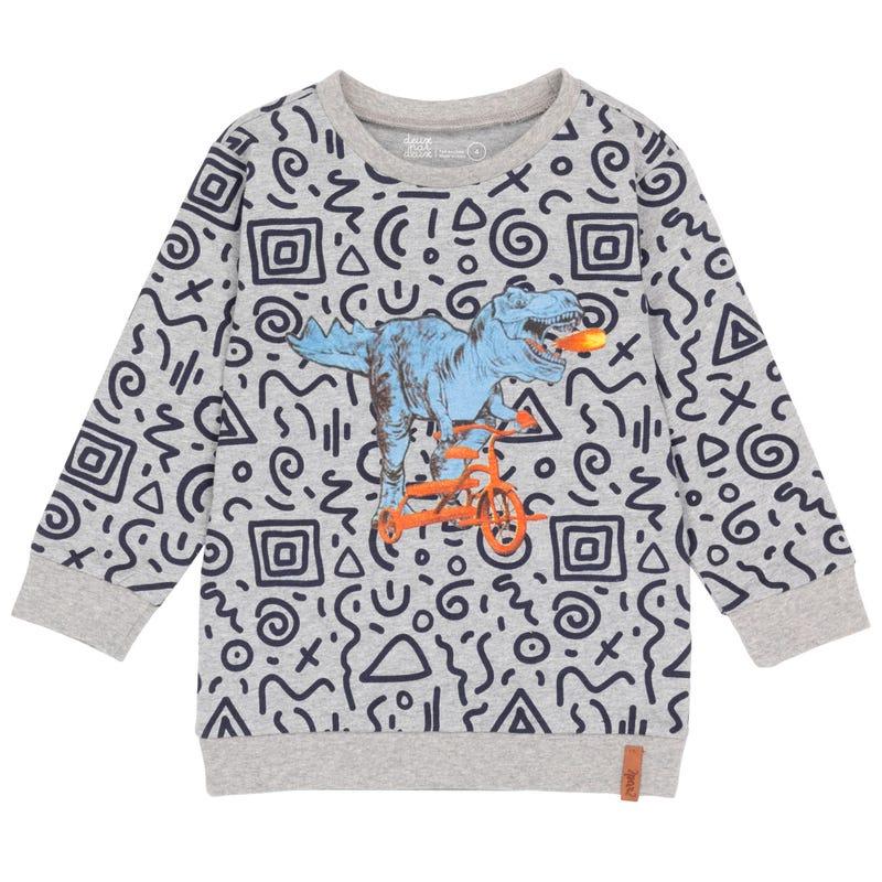 T-Shirt à Manches Longues Dino Petit Homme 3-6ans