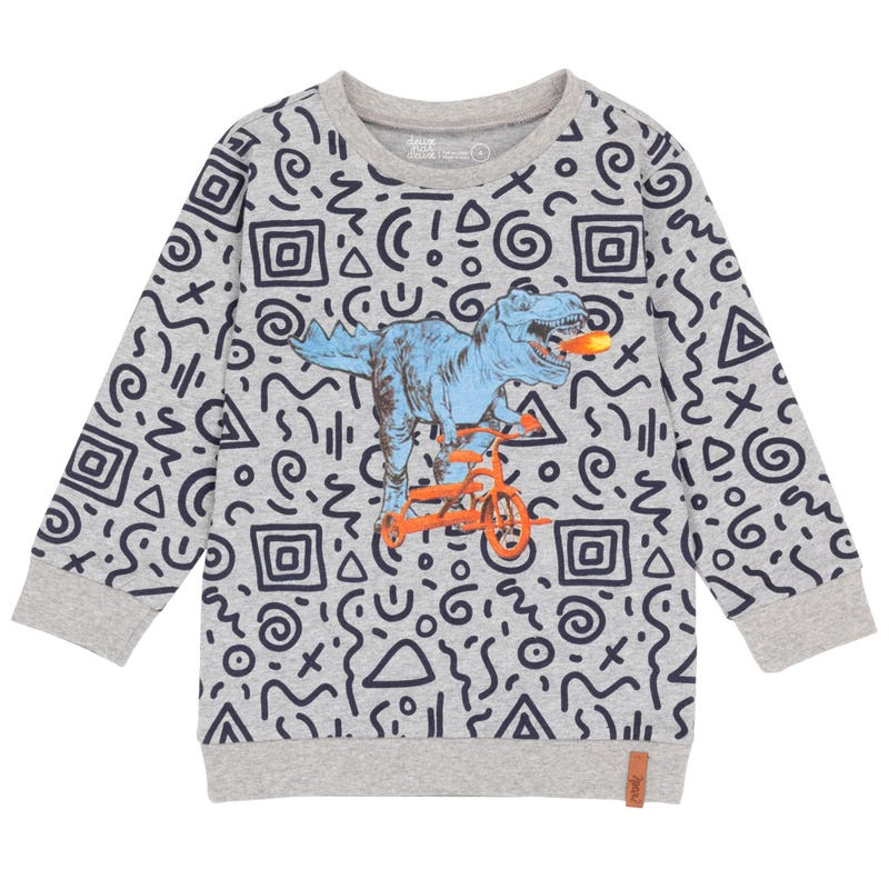 Little Man Dino Long Sleeve T-Shirt 3-6y