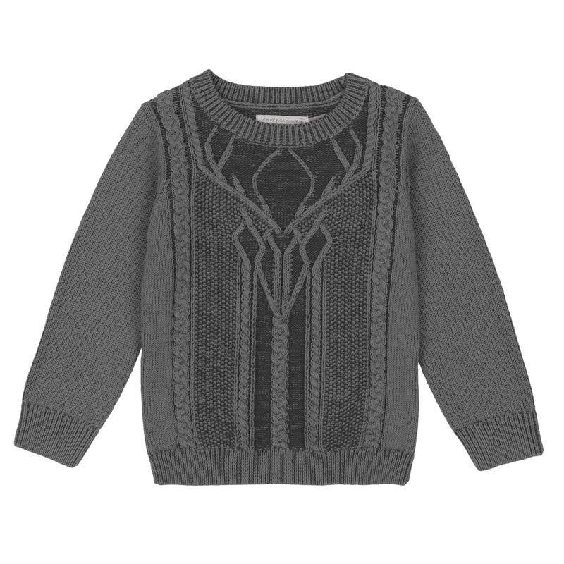 Little Man Dear Sweater 7-12