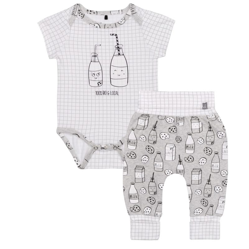 Ensemble Pantalon Lait 12-24m