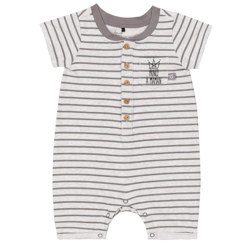 Mommy's Boy Striped Romper1224