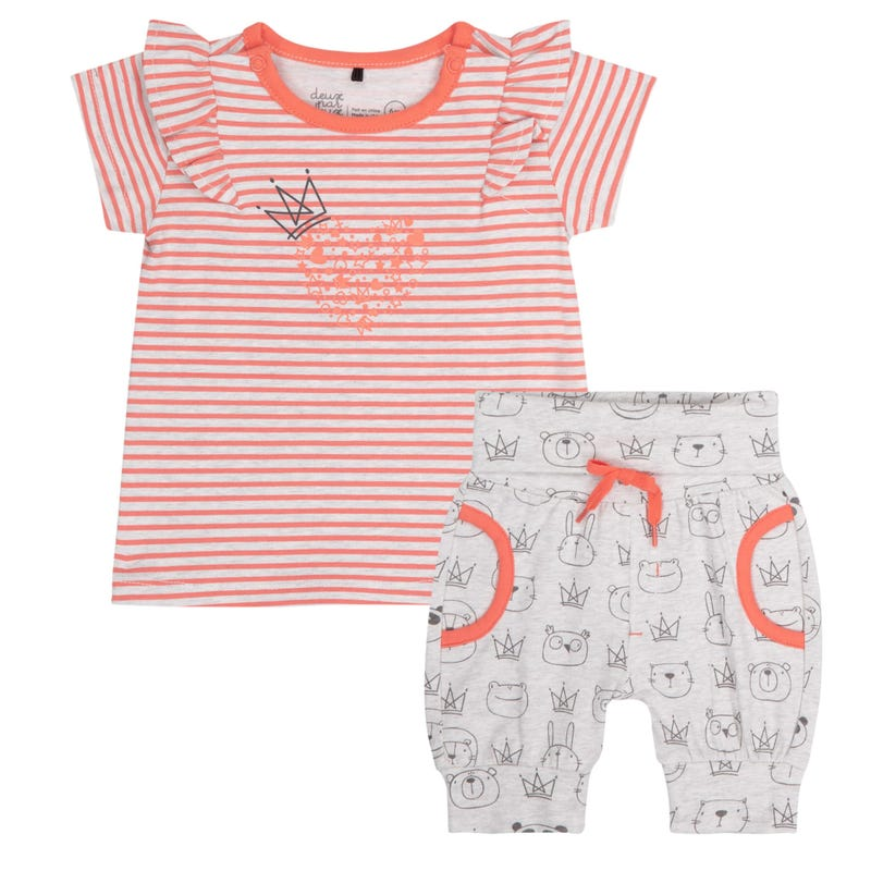 Ensemble Short Princesse 12-24m