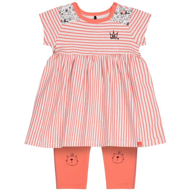 Princess Striped Dress Set1224