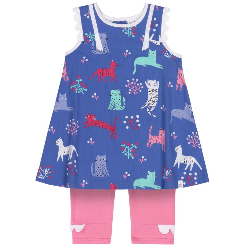 Cat Dress Set 12-24m