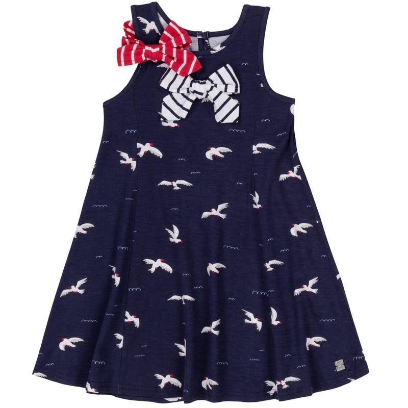 Seagull Bow Dress 3-6