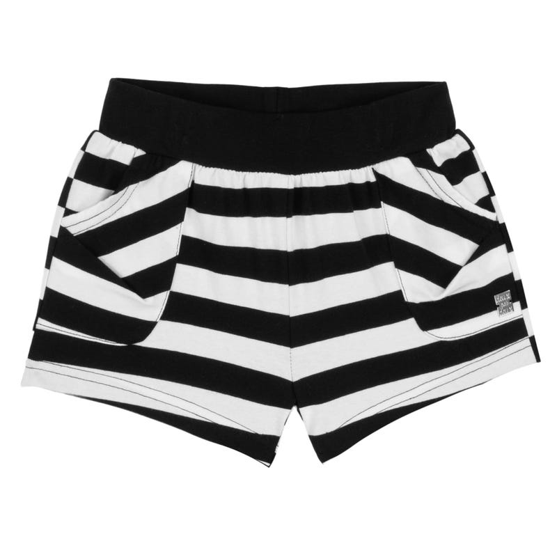 Flower Striped Shorts 3-6