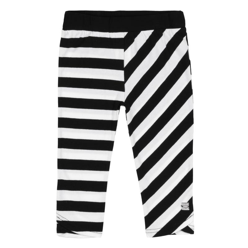 Flower Striped Leggings 3-6