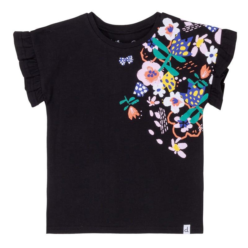 T-Shirt Volant Fleur 3-6